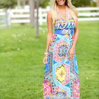 Weekend Boating Maxi Dress