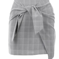 It's a Tie Plaid Skirt