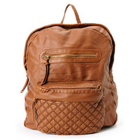 T-Shirt & Jeans Brown Quilted Backpack at Zumiez : PDP