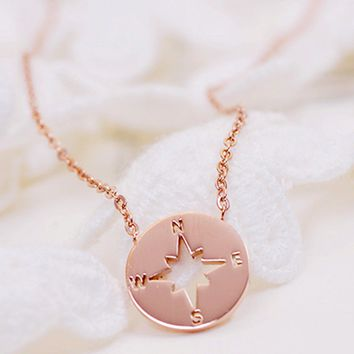 Find Your Way Mini Compass Necklace