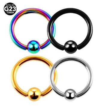 ac ICIKO2Q 1PC 16G Fashion Titanium Captive Bead Rings BCR Piercings Nose Rings Ear Tragus Small Sizes Body Jewelry