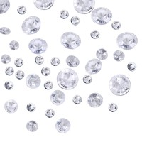 3800 Pieces Clear Wedding Table Scattering Crystals, 4 Sizes Artificial Acrylic Diamonds, Table Decoration for Birthday Baby Shower Party