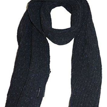 Dolce & Gabbana Men's Charcoal Gray Tweed Ribbed Wool Scarf