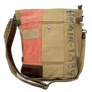 Chloe & Lex Recycled Canvas Coral Air 1839 Crossbody Handbag