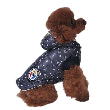 Small Dog Jacket Warm Plaid Winter Dog Coats Pet Clothes Elastic Small to Large Dog Clothes New