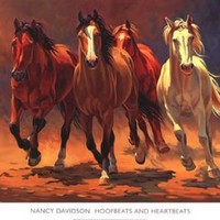 New Hoofbeats and Heartbeats by Nancy Davidson Fine Horse Art Print Decor 793390