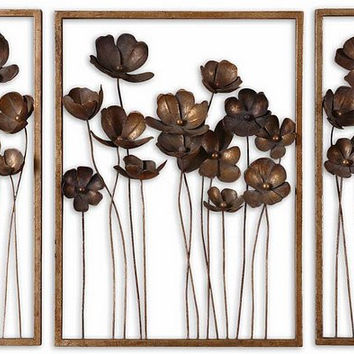 Uttermost Metal Tulips Wall Art Set/3 - 12785