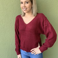Candy Apple Sweater- Red