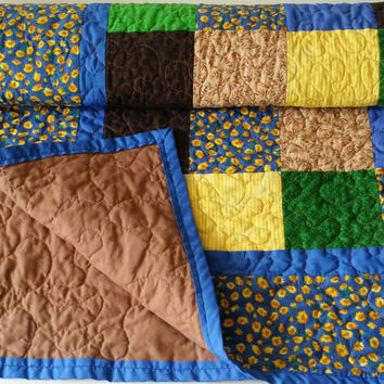 handmade  quilt / baby quilt /  homemade quilts for sale / lap quilt / throw quilt / patchwork quilt / toddler quilt / crib quilt