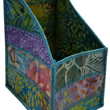 Pencil and Tool Organizer in Multicolored Batik