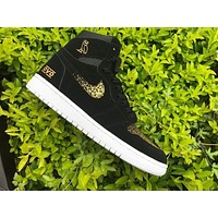 Air Jordan 1 Retro High OVO Black Gold AJ1 Sneakers