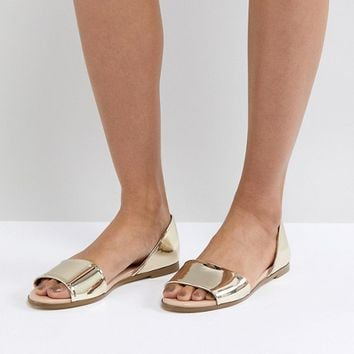 London Rebel Closed Heel Flat Sandal at asos.com