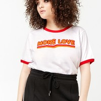 Plus Size More Love Graphic Ringer Tee