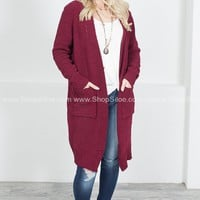 Country Home Knit Cardigan | Wine