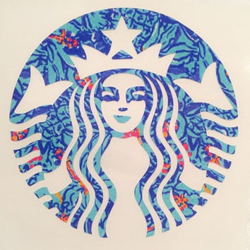 Lilly Pulitzer Starbucks Decal For Yeti Tumblers, Cars, and Tech Devices