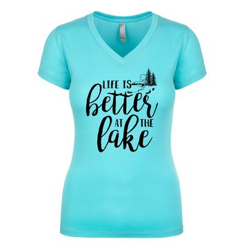 Life Is Better At The Lake Women's V Neck