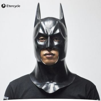 Batman Masks Adult Halloween Mask Full Face Latex Caretas Movie Bruce Wayne Cosplay Toy Props