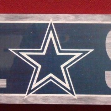 "DALLAS COWBOYS GENERAL SEATING WOOD SIGN 6""x36"" NEW WINCRAFT"