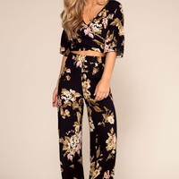 That's A Wrap Floral High Waisted Pants
