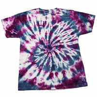 Vintage 90s Purple/Blue Tie Dye Shirt Mens Size Medium
