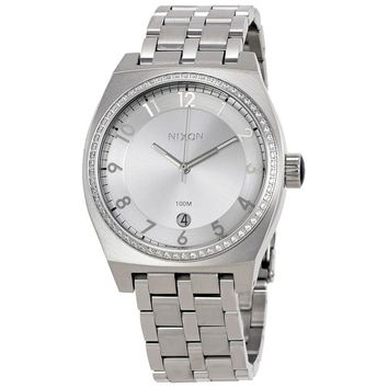 Nixon Monopoly Silver Dial Stainless Steel Ladies Watch A3251874
