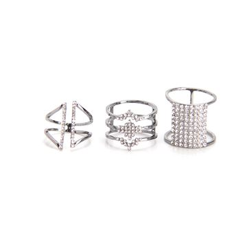 Lock You Down Ring Set - Gunmetal