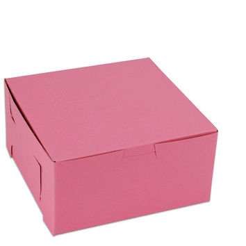 "Pink 6"" Bakery Box"