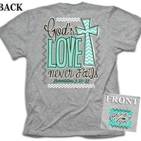 Never Fails Cherished Girl Christian Tee (Small)
