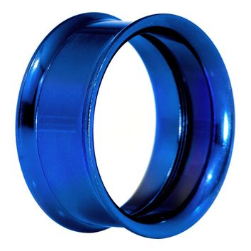 "1"" Royal Blue Anodized Titanium Screw Fit Tunnel"