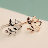 LEAF wrap midi ring