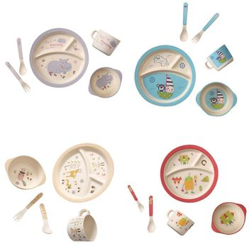 Dinnerware Plate Dishes Bowl Cup Spoon Baby Set