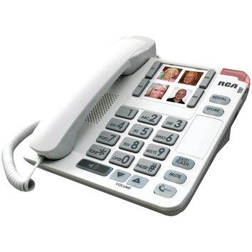 Rca Legend Series Amplified Big-button Corded Deskphone With Speakerphone