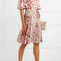 Valentino - Floral-print silk crepe de chine dress