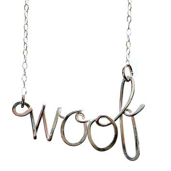 Rita Bean Woof Necklace - Sterling Silver