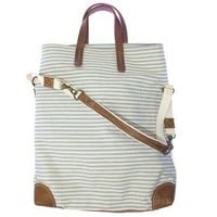 Workhorse bag in dark skies striped canvas with by missibaba