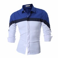 New Men's Tri-Color Dress Shirt