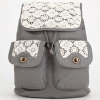T-Shirt & Jeans Kenny Crochet Backpack Gray One Size For Women 26014911501