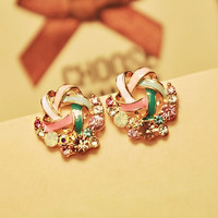 Fashion Elegant Rhinestone Stud Earrings