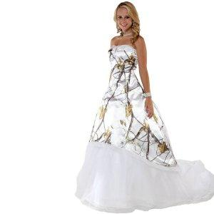 Realtree white camo wedding dress made from realtree for Snow camo wedding dresses
