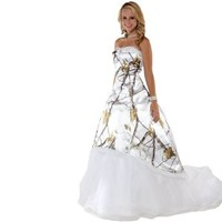 Realtree White Camo Wedding Dress | Made in USA | Free Shipping