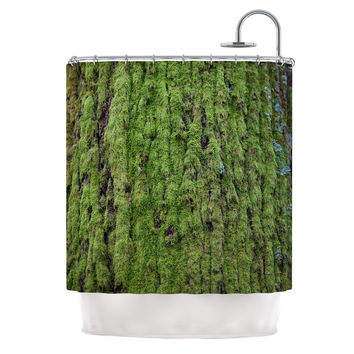 "Susan Sanders ""Emerald Moss"" Green Nature Shower Curtain"