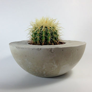 Handmade Concrete Bowl Planter