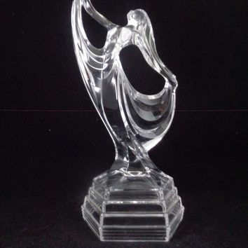 RCR Lead Crystral Dancing Lady Sculpture