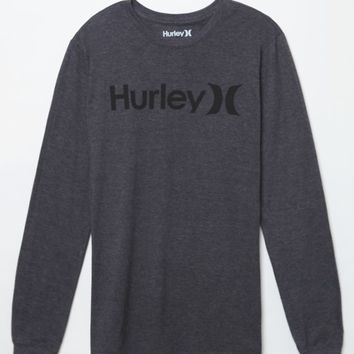 Hurley One And Only Long Sleeve T-shirt - Mens Tee - Black