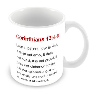 Corinthians 13:4-8 Mug Bible Mug Bible Quote Mug Coffee Mug Church Gift Catholic Christian Gift Bible Verse Religion PM12