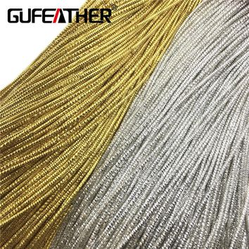 GUFEATHER 1.5MM Embroidery badge mat/jewelry accessories/jewelry findings/diy accessories/jewelry making/hand made/diy/500CM/bag