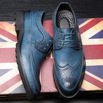 Men's Casual Leather shoes British style Business Dress Shoes