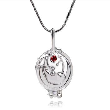 """""""The Vampire Diaries"""" Necklace Elena Gilbert Vintage Vervain Verbena Pendant Photo Locket Jewelry For Women gifts free shipping"""