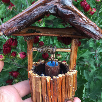 Wishing Well, Fairy garden well, miniature well, fairy well, fairy garden accessories