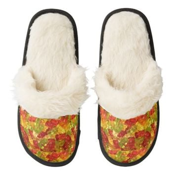 Sweet Gummy Bears Fuzzy Slippers